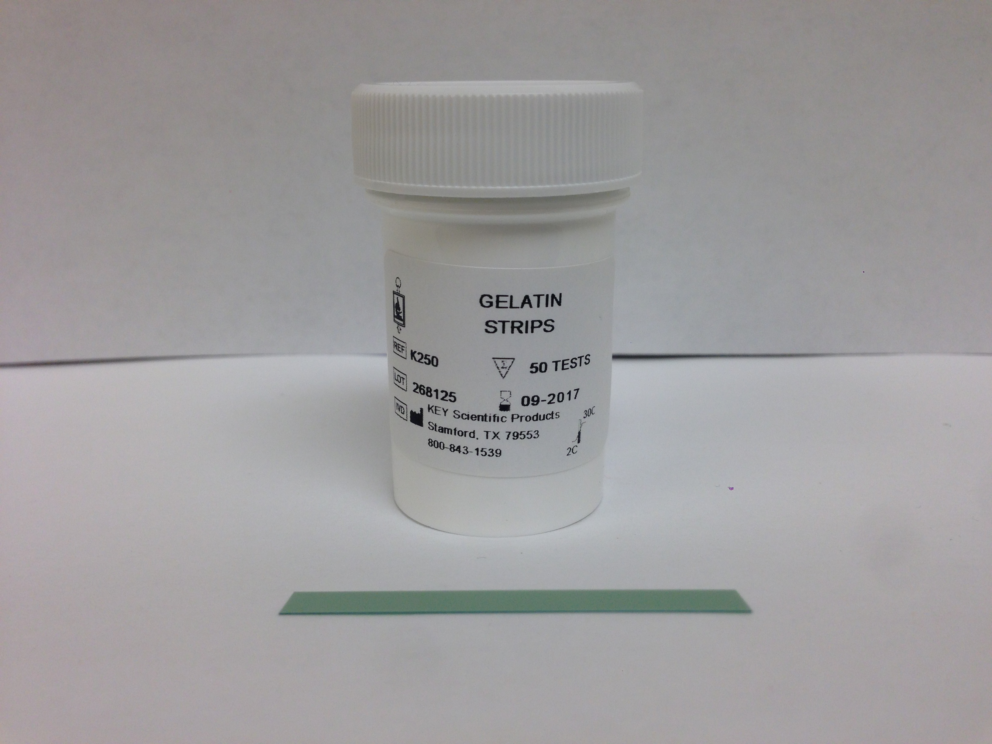 GELATIN STRIPS :: Rapid Identification Tests / Bacteria