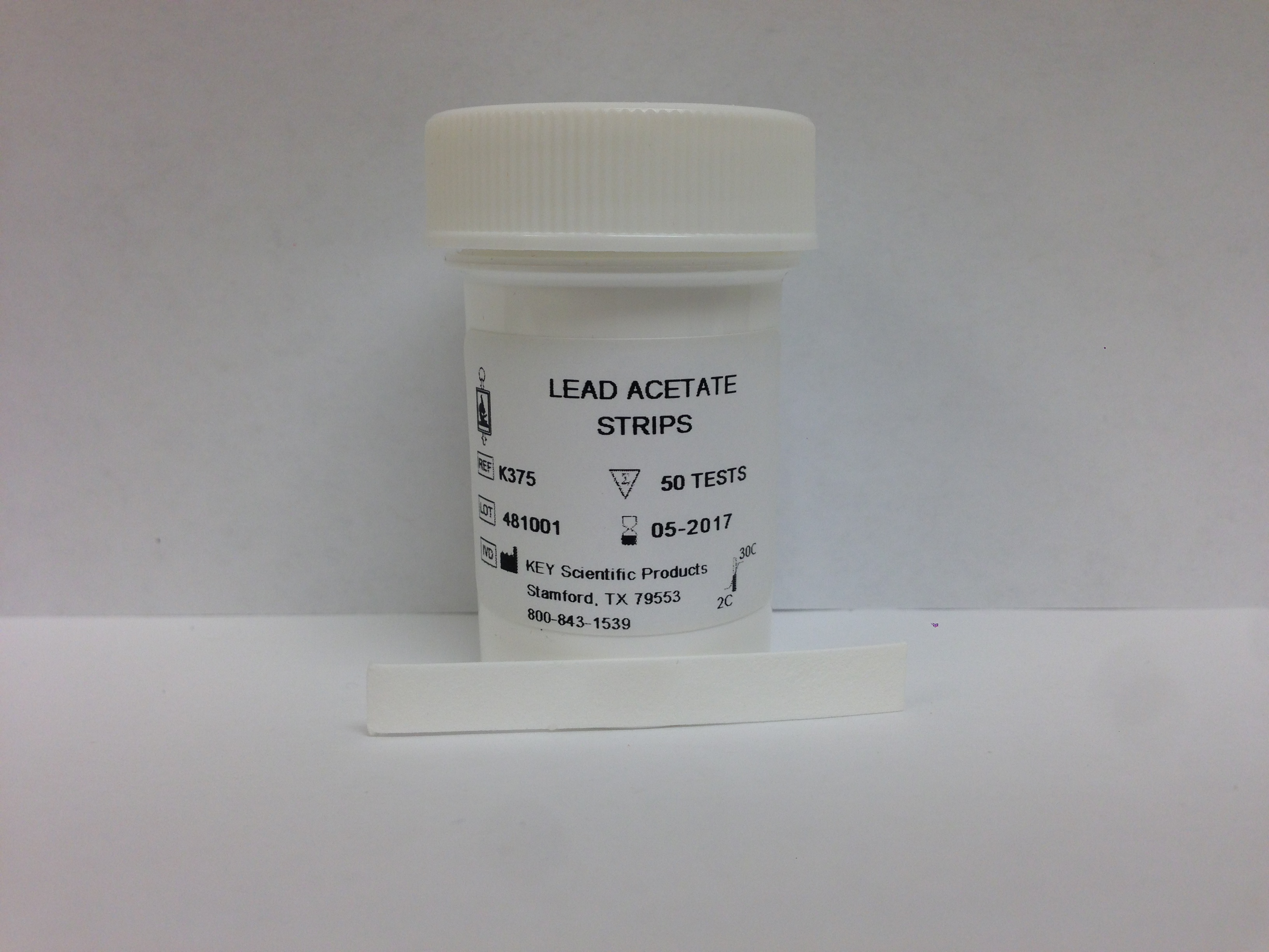 LEAD ACETATE STRIPS