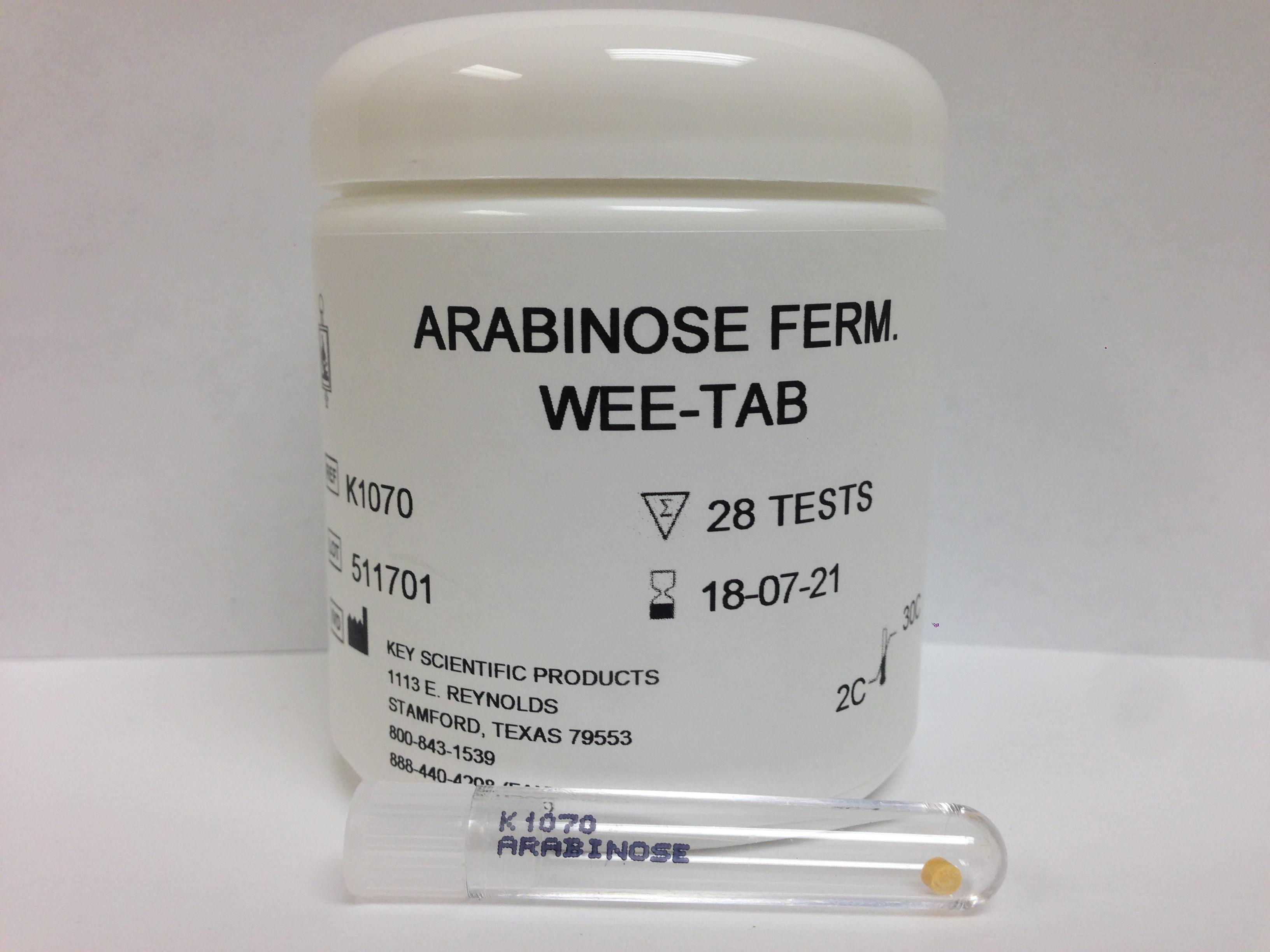 WEE-TAB ARABINOSE FERMENTATION