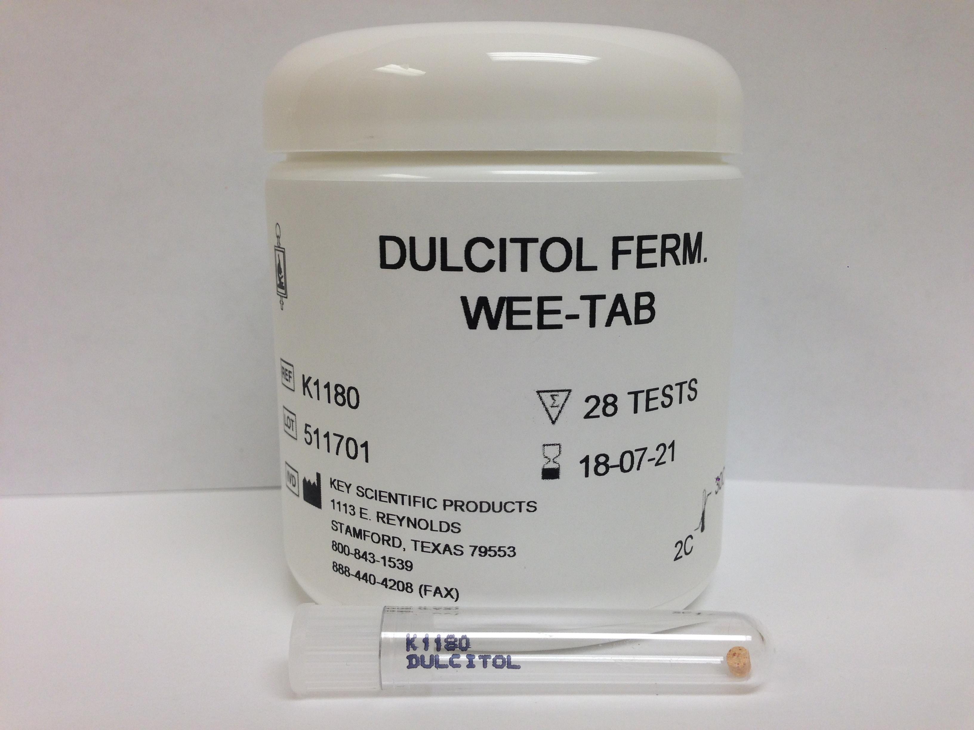 WEE-TAB DULCITOL FERMENTATION