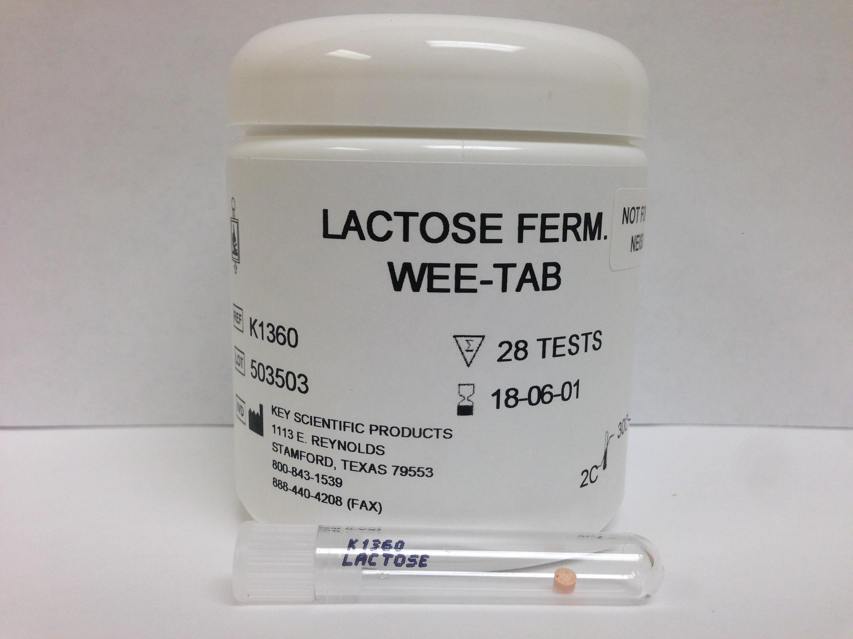 WEE-TAB LACTOSE FERMENTATION